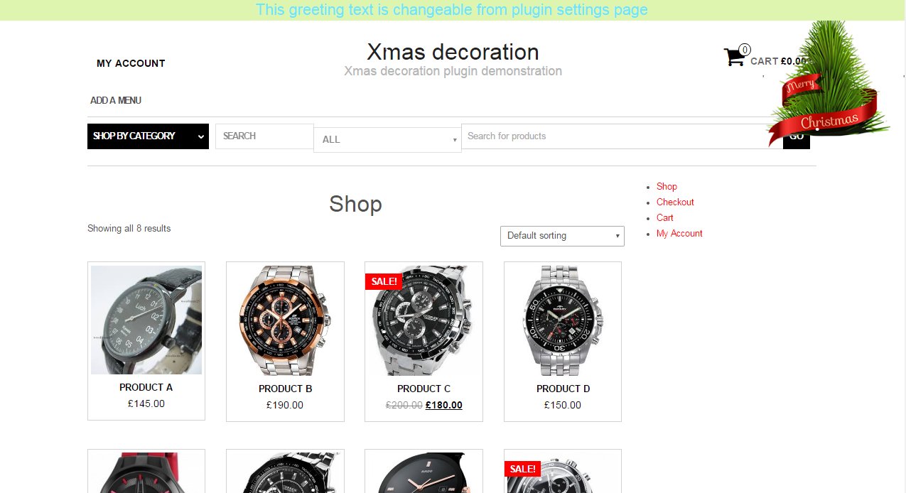 Xmas site decoration